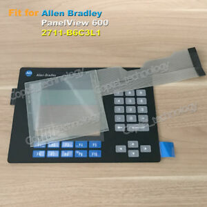 Touch Screen Glass membrane Keypad For Allen Bradley Panelview 600 2711 b6c3l1