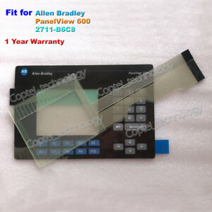Touch Screen Glass Membrane Keypad For Allen Bradley Panelview 600 2711 b6c8