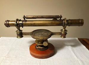19th Century Theodolite With Telescope W T Gilbert London Surveying Transit