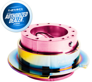 New Nrg Steering Wheel Quick Release Gen 2 5 Pink W Neochrome Ring Srk 250pk Mc