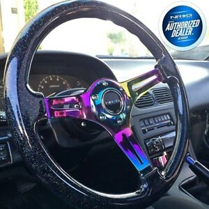 New Nrg Steering Wheel Wood Grain galaxy Sparkled Hardware St 015mc bsb