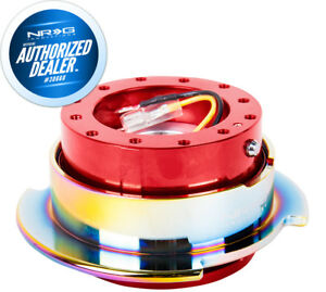 Nrg Steering Wheel Quick Release Gen 2 5 Red Body Neochrome Ring Srk 250rd Mc