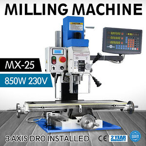 230v 850w Bench Drill Milling Metal Wood Drilling Mill Machine Multifunction