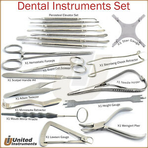 Dental Orthodontic Braces Tools Kit Surgical Oral Surgery Laboratory Instruments