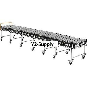 New Portable Flexible Expandable Conveyor steel Skate Wheels 24 Wide