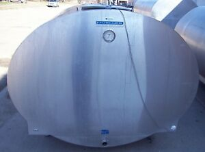 1000 Gallon Mueller Oe80703 Stainless Steel Bulk Milk Cooling Farm Tank