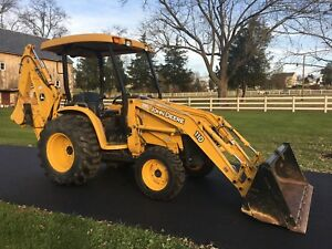 John Deere 110 Commercial Duty Tlb 4x4 Hydro 188 Hours One Of A Kind Cond