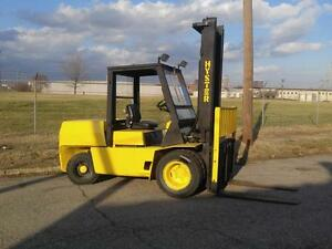 Hyster H110xl 11000lbs Forklift Pneumatic Tires 2 Stage Mast ss 4 Cyl Diesel Cab