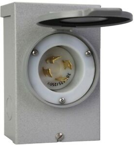 Power Inlet Box Reliance Controls 30 Amp Generator Cord Outdoor Transfer Switch