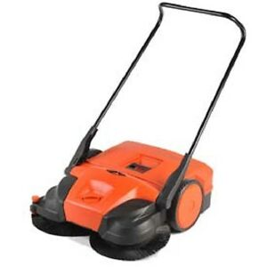 New Haaga 31 Battery Powered Triple Brush Push Power Sweeper