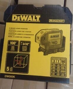 Dewalt Dw085k 5 Beam Self Leveling Laser Pointer Dw085k