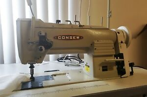 Consew 333rb Sewing Machine Double Needle With Table