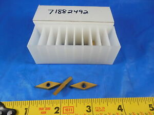 7 Pcs New Vcgt 13 03 02 25 Dx20 Carbide Inserts Machine Shop Tooling