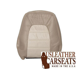 2002 2003 2004 Ford Passenger Lean Back Synthetic Leather Seat Cover 2 Tone Tan