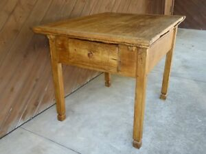 18th C Old Early Primitive Kitchen Work Farm Table Rare Leaf Ext Tavern Dining