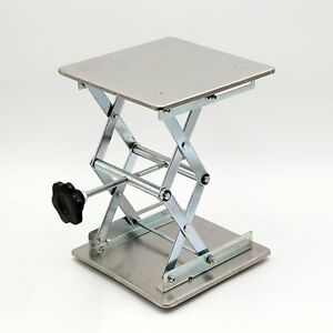 Scissor Stand Platform Lab Jack 8 x8 Lifting Plate 10 Height Stainless Steel