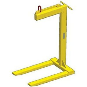 New Dual Bale Lift Pallet Lifter 2000 Lb Capacity tracking Chip