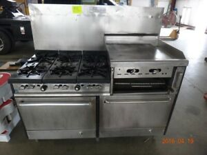 Franklin The Chef Gr12a 19 Commercial Stove 6 Burners Griddle Broiler Ovens