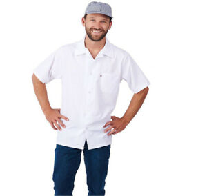Item 430wh Cook Shirt Short Sleeve 65 35 Poly cotton Blend 4 5 Oz