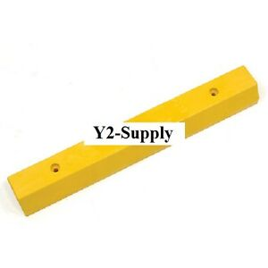 Parking Curb Recycled Plastic Yellow Concrete Installation 36 l X5 3 4 wx3 1 2 h
