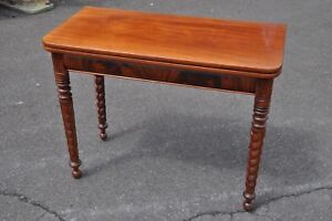 Empire Mahogany Folding Top Card Or Hall Table