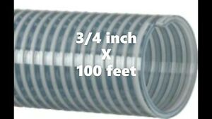 Kanaflex 110 Cl75 3 4 Inch Water Suction Hose Clear Pvc 100 Ft Roll