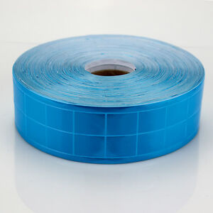 Light Blue Gloss Reflective Tape Pvc Sew On Material Clothes Cap Bags Width 2