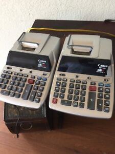 Lot Of 2 Canon Mp11dx 2 High Desktop Printing Calculator Time date w Bonus