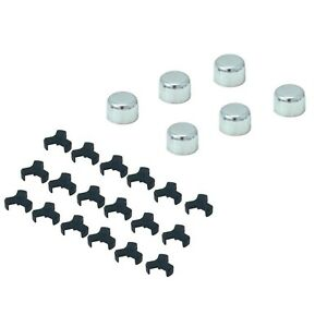 Spectre 1408 Bolt Caps Steel Chrome Plated 1 2 12mm 13mm Bolt Heads Set Of 6