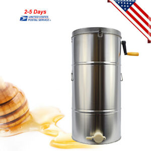 Beekeeping Supplies Stainless Steel Two 2 Frame Honey Extractor Equipment Us Fda