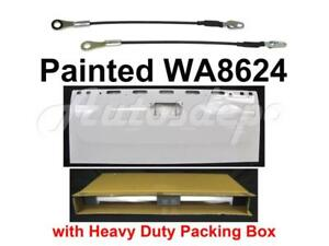 Painted Wa8624 White Tailgate Hatch check Cable Strap For Silverado 2007 2013