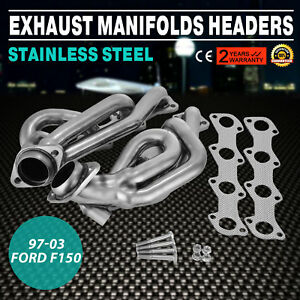 2003 Ford F150 F250 97 03 5 4l V8 Shorty Performance Headers Exhaust Xlt