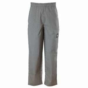 Chef Revival P020ht s Houndstooth Small Baggy Chef Pants
