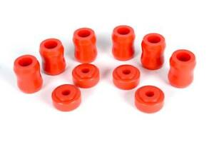 Jeep Wrangler Tj Shock Bushing Replacement Kit Complete Set In Red Poly 97 06