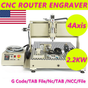 Vfd Usb Cnc Router 4axis 2200w 6090t Metal Wood Engraving Machine With Mach3