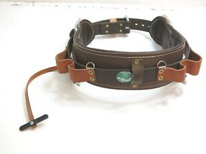 New Buckingham Size 24 P n 1902 Tree Pole Lineman Climbing Leather Tool Belt