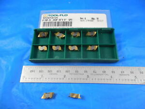 10 Pcs New Tool Flo Tf24737 Fltbp 2l 032p 35 X 0 Gp3 Carbide Top Notch Insert