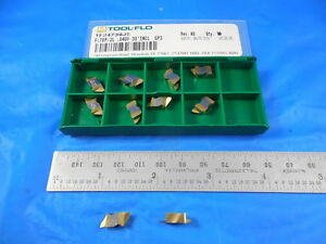 10 Pc New Tool Flo Tf24739 Fltbp 2l 040p 30 Incl Gp3 Carbide Top Notch Inserts