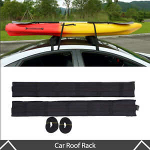 Universal Roof Rack Cargo Carrier Car Suv Van Top Luggage Holder Travel Black