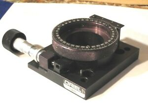 Oriel 13011 Precision Rotating Stage With Mitutoyo Vernier Micrometer