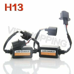 1set Car H13 Led Headlight Error Free Anti Flicker Load Resistor Canbus Decoders