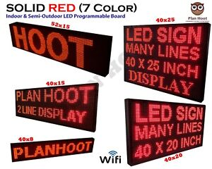 Multiple Dimesnions Led Red Color Wifi Indoor Semi outdoor Scrolling Sign