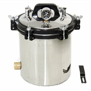 18l Stainless Steel Medical High Pressure Steam Autoclave Sterilizer Safety Bcl