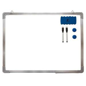 Whiteboard Set Dry Erase Board 24 X 18 1 Magnetic Eraser 2 Dry erase