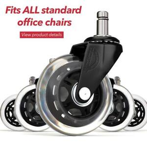 Office Chair Wheels Replacement Rubber Casters For Hardwood Floors And