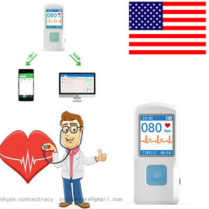 Us Seller Portable Handheld Single Channel Ecg Ekg Machine Ce Certified Pm10