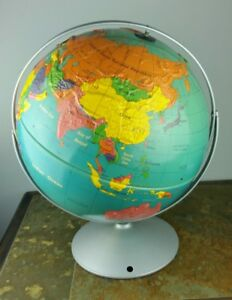 Vintage Nystrom Readiness Dual Rotating Axis Raised 16 School Earth Globe