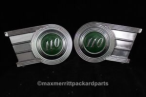 1940 Packard 110 Emblem Panels Replated Rare Green Color