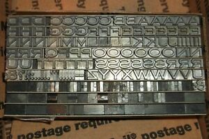 Vintage 18pt Heavy Copperplate Gothic Extended Foundry Type Letterpress Printing