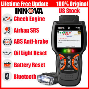 Innova 7100p Obdii Abs Srs Oil Reset Battery Eninge Car Diagnostic Tool Scanner